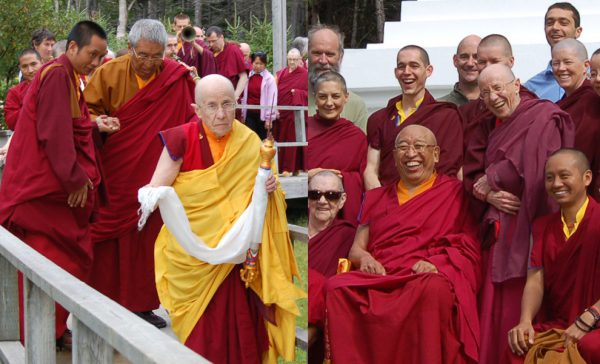 Ani Mige, two pictures from 2011 during Thrangu Rinpoche's visit