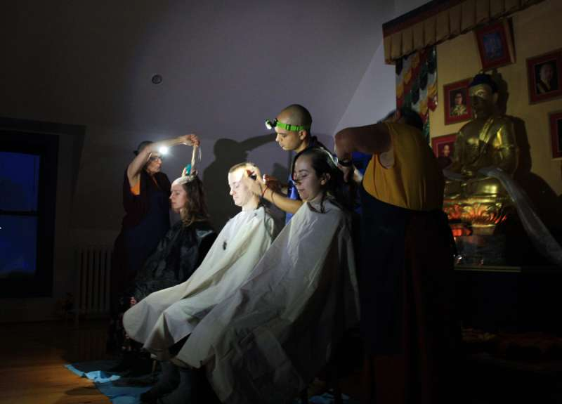 Haircutting by Flashlight