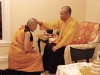 Receiving a Blessing from the Sakyong
