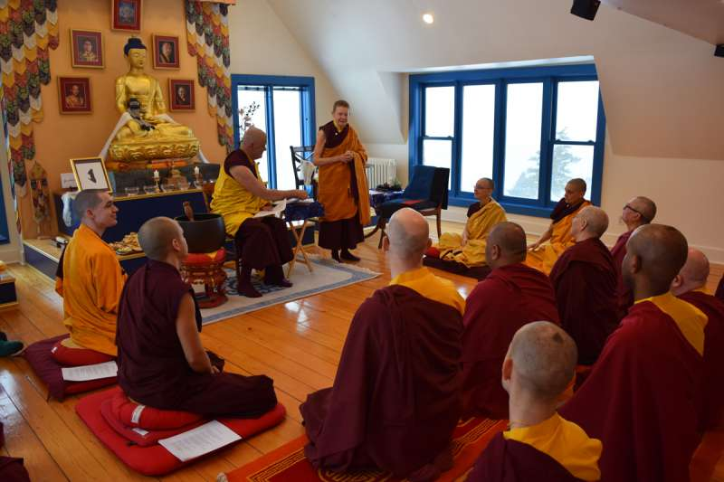 Ani Pema Chodron address the newly ordained