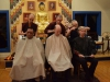 Lion resident hair cutting ceremony